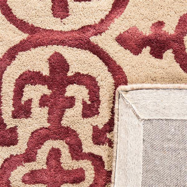 Safavieh Dip Dye Rug - 3' x 5' - Wool - Beige/Maroon