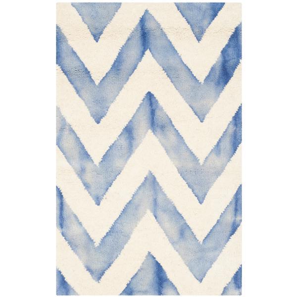 Safavieh Dip Dye Rug - 2' x 3' - Wool - Ivory/Blue