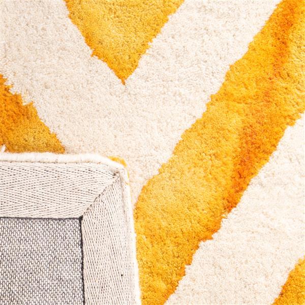Safavieh Dip Dye Rug - 3' x 5' - Wool - Ivory/Gold