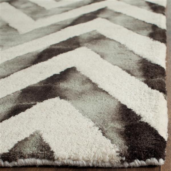 Safavieh Dip Dye Rug - 2' x 3' - Wool - Ivory/Charcoal