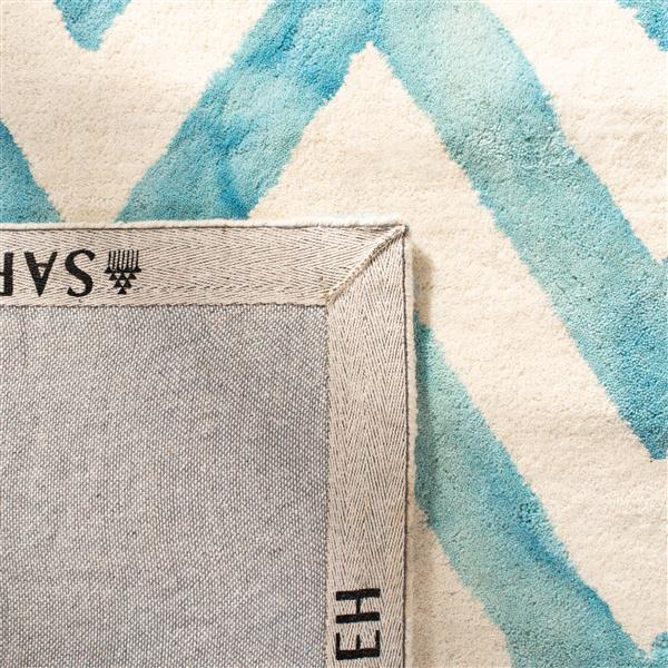 Safavieh Dip Dye Rug - 2.3' x 8' - Wool - Ivory/Turquoise