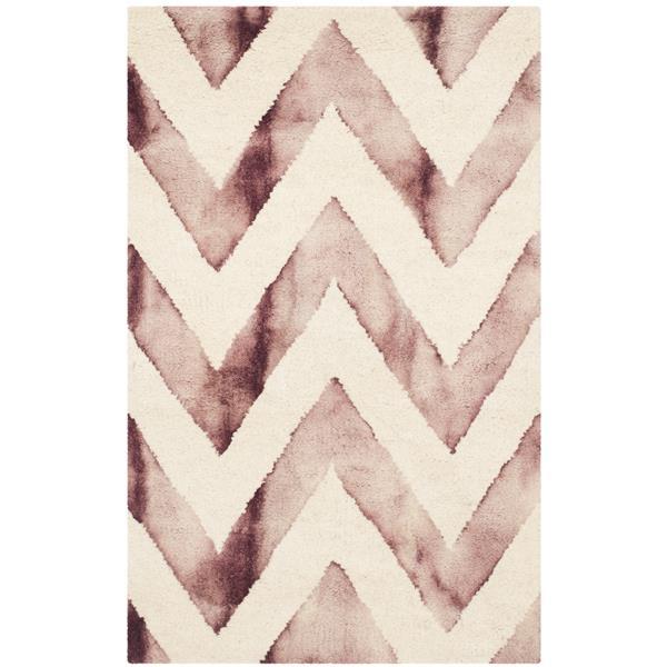 Safavieh Dip Dye Rug - 2' x 3' - Wool - Ivory/Maroon
