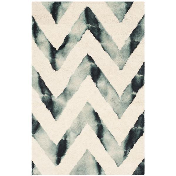 Safavieh Dip Dye Rug - 2' x 3' - Wool - Ivory/Gray
