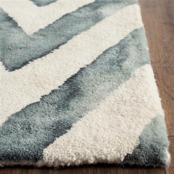 Safavieh Dip Rug - 3' x 5' - Wool - Ivory/Gray
