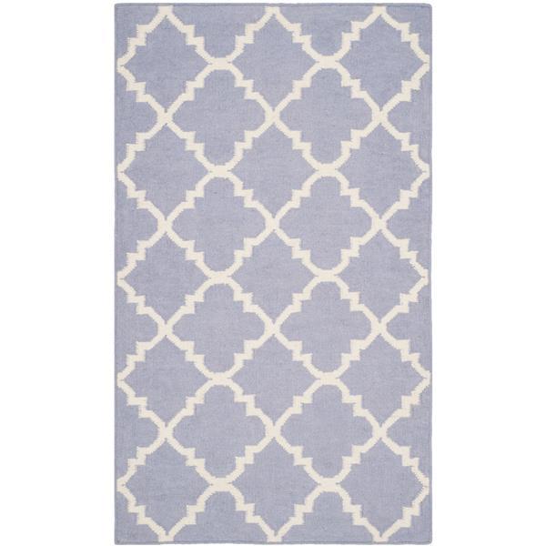 Safavieh Dhurries Rug - 2.5' x 4' - Wool - Purple/Ivory