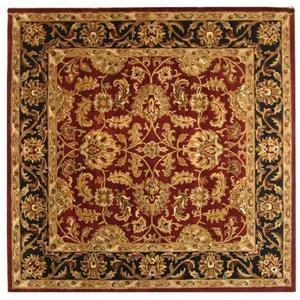 Heritage Rug - 8' x 8' - Wool - Red/Black