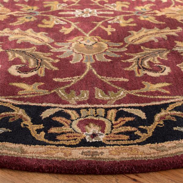 Safavieh Heritage Rug - 8' x 8' - Wool - Red/Black