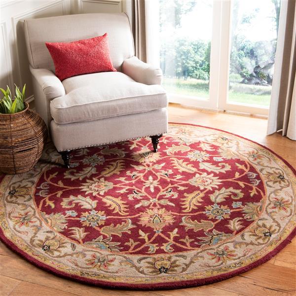 Safavieh Heritage Rug - 8' x 8' - Wool - Red/Ivory