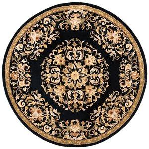 Heritage Rug - 8' x 8' - Wool - Black