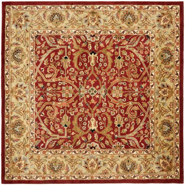Safavieh Heritage Rug - 8' x 8' - Wool - Red/Gold