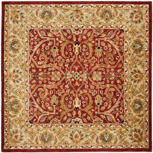 Heritage Rug - 8' x 8' - Wool - Red/Gold