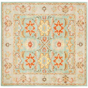 Heritage Rug - 8' x 8' - Wool - Light Blue/Ivory