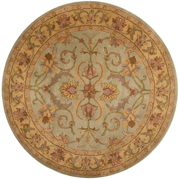 Safavieh Heritage Rug - 8' x 8' - Wool - Green/Gold