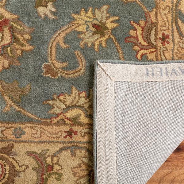 Safavieh Heritage Rug - 8' x 8' - Wool - Blue/Beige