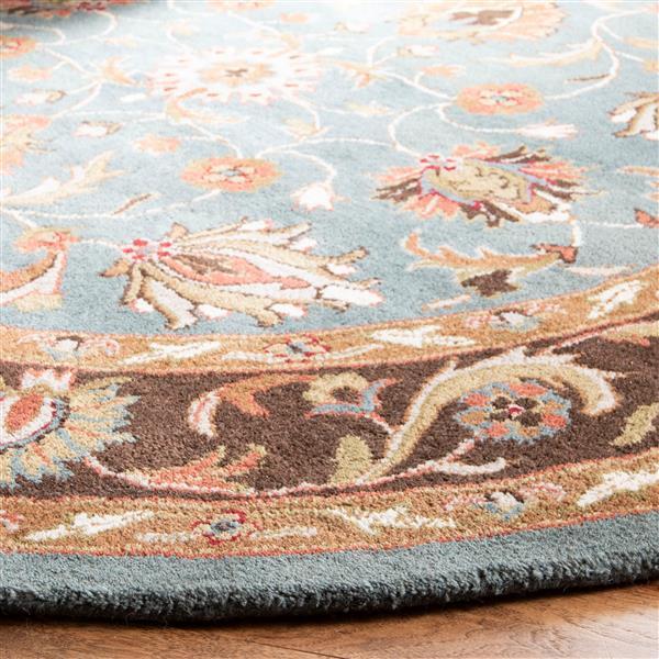 Safavieh Heritage Rug - 8' x 8' - Wool - Blue/Brown