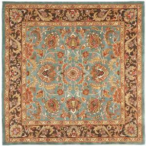 Heritage Rug - 8' x 8' - Wool - Blue/Brown