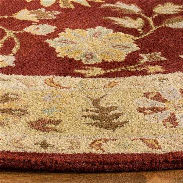 Safavieh Heritage Rug - 8' x 8' - Wool - Red/Gold