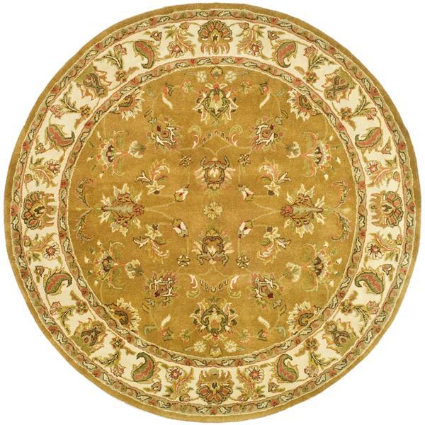 Safavieh Heritage Rug - 8' x 8' - Wool - Mocha/Ivory