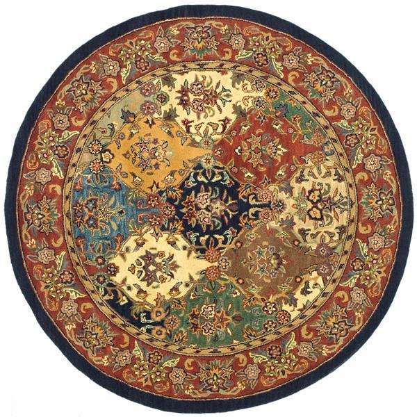 Safavieh Heritage Rug - 8' x 8' - Wool - Burgundy