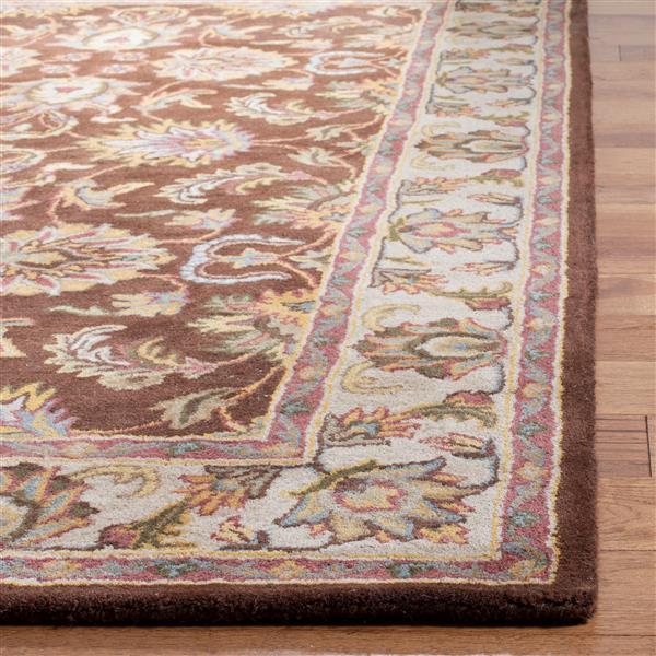 Safavieh Heritage Rug - 8' x 8' - Wool - Brown/Ivory