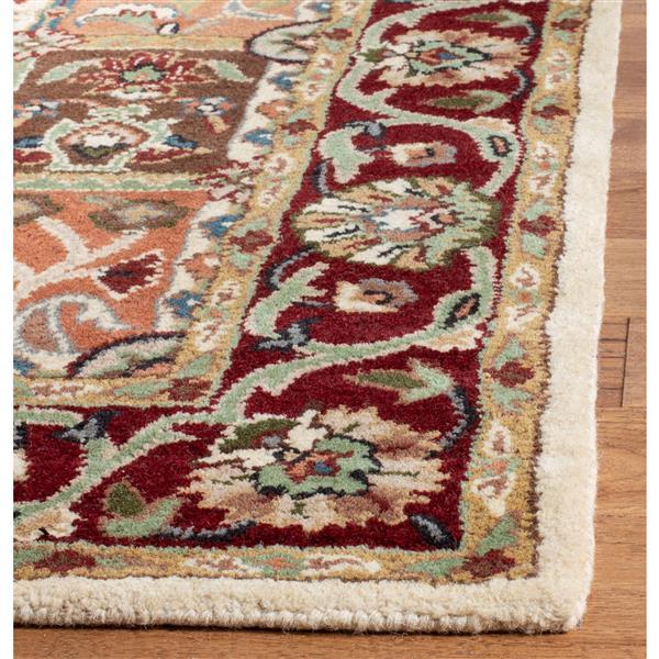 Safavieh Heritage Rug - 8' x 8' - Wool - Red