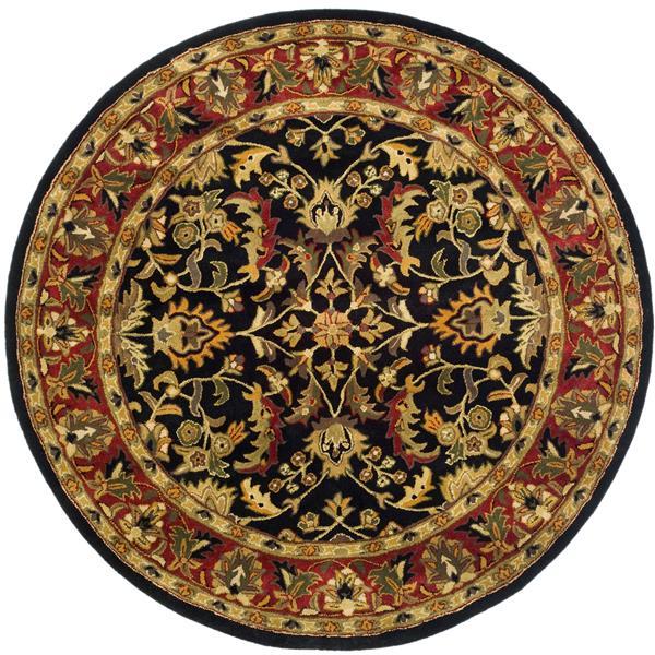 Safavieh Heritage Rug - 8' x 8' - Wool - Black/Red
