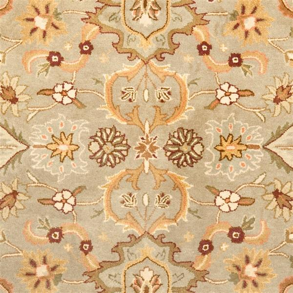 Safavieh Heritage Rug - 8' x 8' - Wool - Light Green/Beige