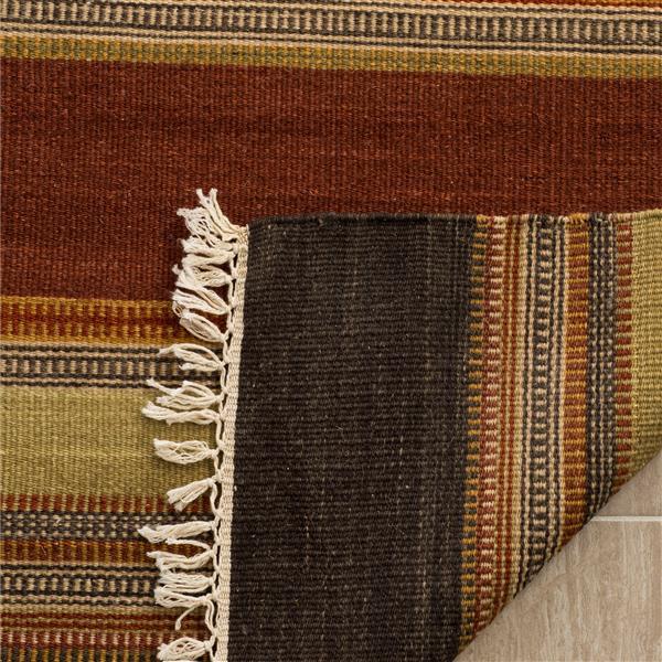 Safavieh Kilim Rug - 9' x 12' - Polyester - Gold