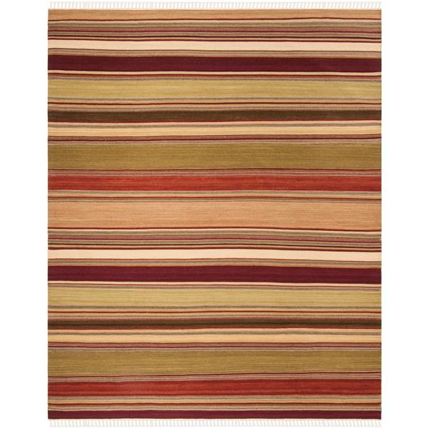 Safavieh Kilim Rug - 9' x 12' - Polyester - Red