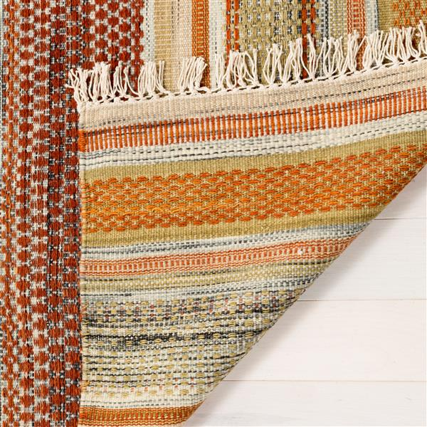 Safavieh Kilim Rug - 9' x 12' - Polyester - Brown