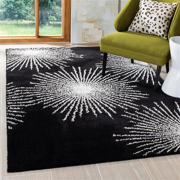 Safavieh Soho Rug - 7.5' x 9.5' - Wool - Black/White
