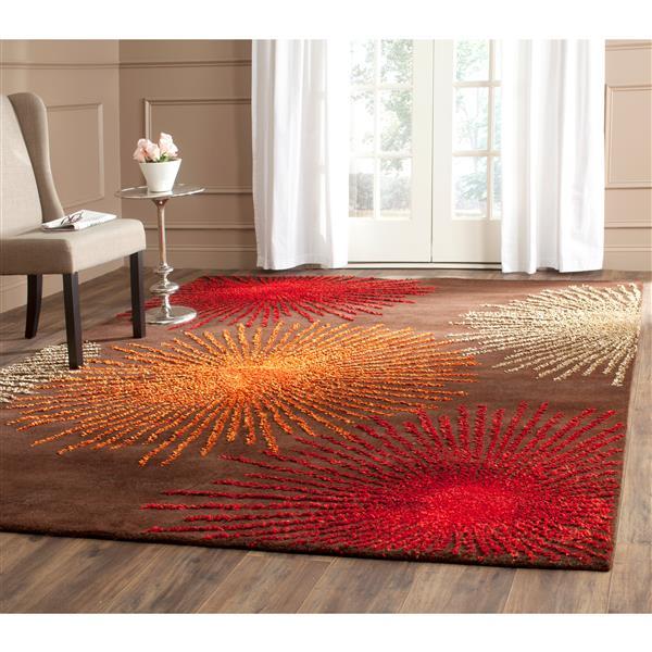 Safavieh Soho Rug - 7.5' x 9.5' - Wool - Brown