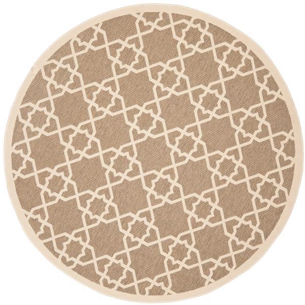 Safavieh Courtyard Rug - 5.3' x 5.3' - Polypropylene - Brown/Beige