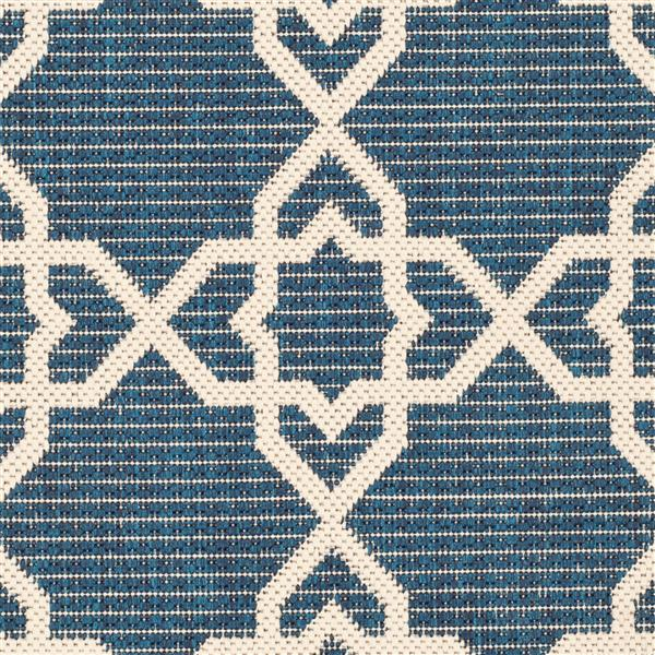 Safavieh Courtyard Rug - 2.6' x 5' - Polypropylene - Navy Blue