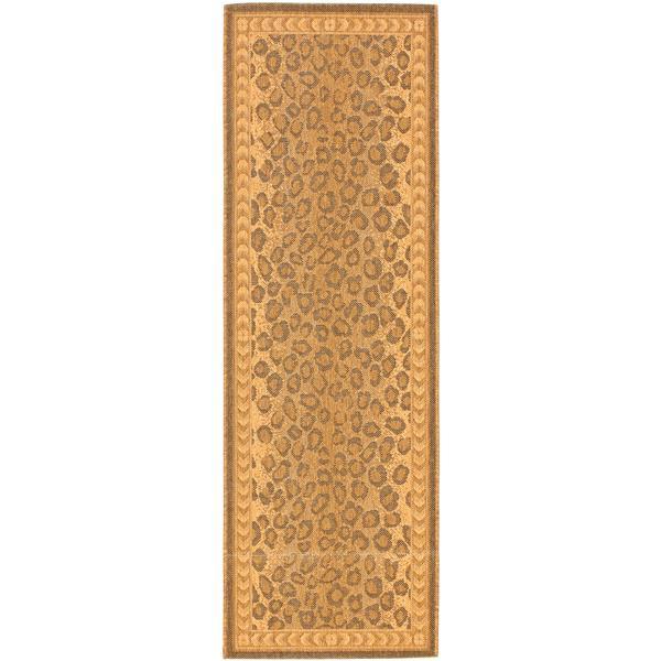 Safavieh Courtyard Rug - 2.2' x 9.9' - Polypropylene - Natural/Gold