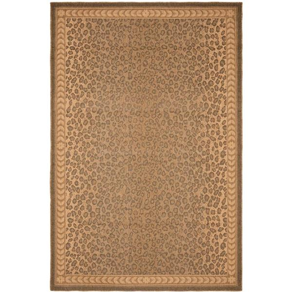 Safavieh Courtyard Rug - 4' x 5.6' - Polypropylene - Natural/Gold