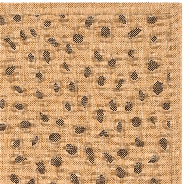 Safavieh Courtyard Rug - 5.3' x 7.6' - Polypropylene - Natural/Gold