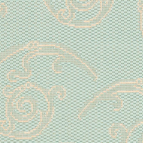 Safavieh Courtyard Rug - 2.3' x 6.6' - Polypropylene - Aqua/Cream