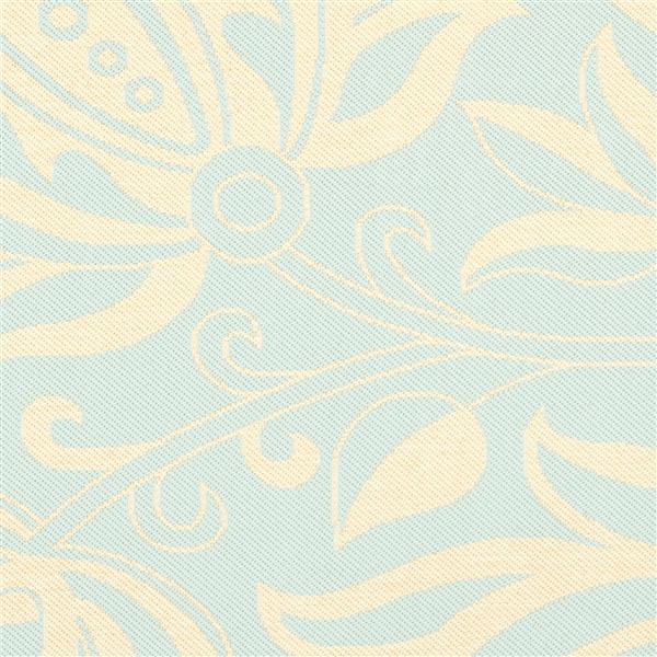 Safavieh Courtyard Rug - 5.3' x 7.6' - Polypropylene - Aqua/Cream