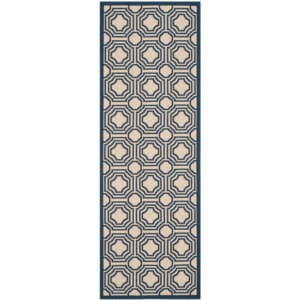 Safavieh Courtyard Rug - 2.3' x 6.6' - Polypropylene - Beige
