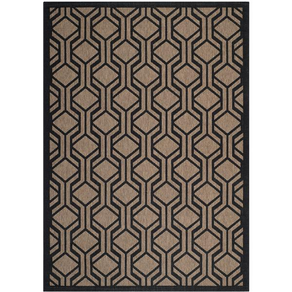 Safavieh Courtyard Rug - 5.3' x 7.6' - Polypropylene - Brown/Black