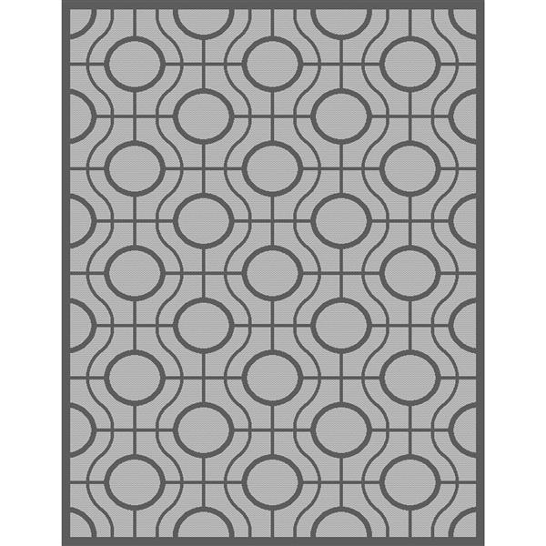 Safavieh Courtyard Rug - 4' x 5.6' - Polypropylene - Light Gray