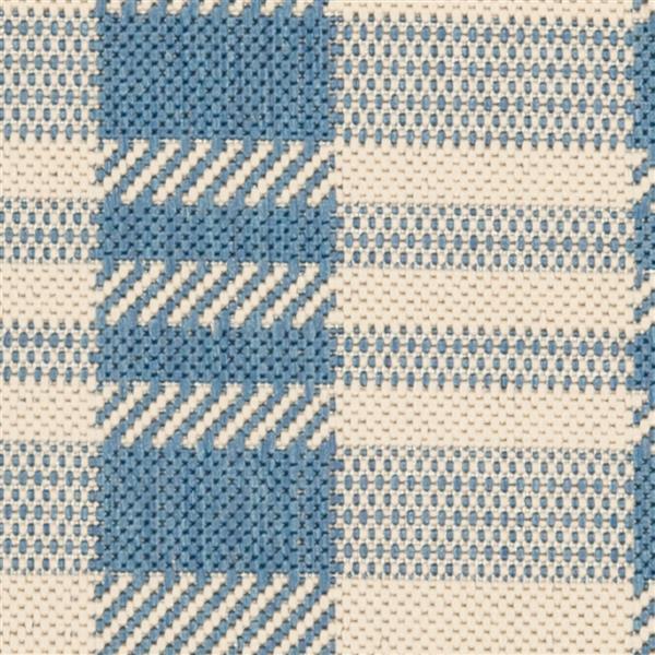 Safavieh Courtyard Rug - 2.3' x 10' - Polypropylene - Beige/Blue