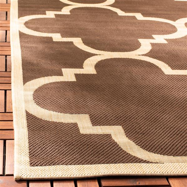 Safavieh Courtyard Rug - 5.3' x 5.3' - Polypropylene - Dark Brown