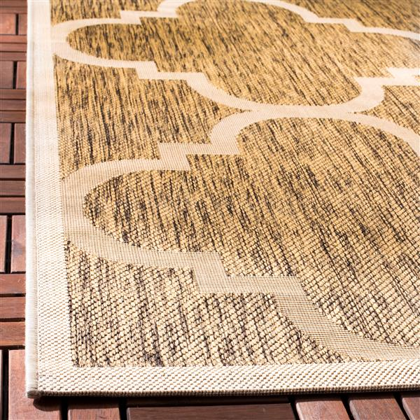 Safavieh Courtyard Rug - 2.3' x 6.6' - Polypropylene - Brown