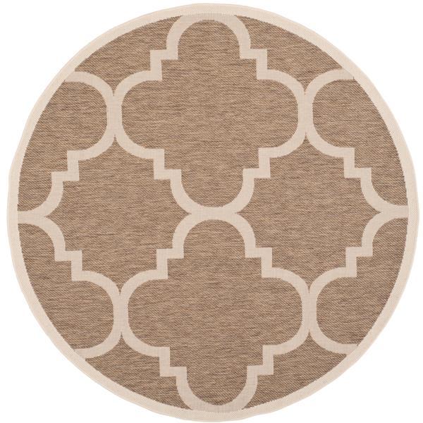 Safavieh Courtyard Rug - 5.3' x 5.3' - Polypropylene - Brown