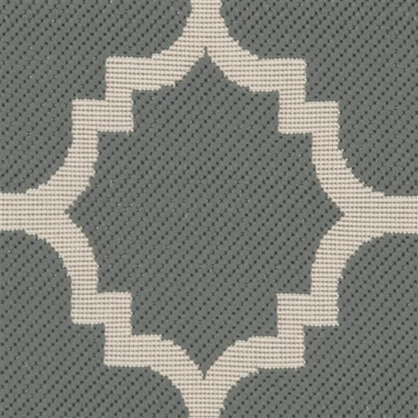 Safavieh Courtyard Rug - 2.3' x 8' - Polypropylene - Gray/Beige