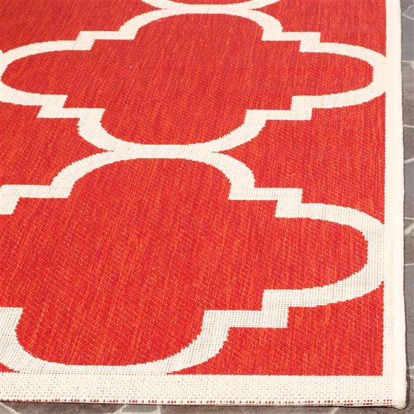 Safavieh Courtyard Rug - 2.3' x 10' - Polypropylene - Red
