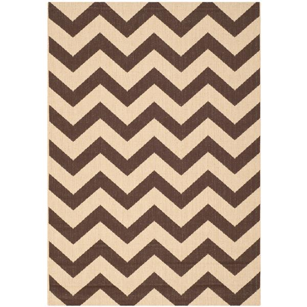 Safavieh Courtyard Rug - 4' x 5.6' - Polypropylene - Dark Brown