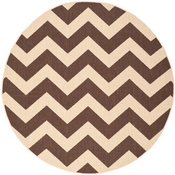 Safavieh Courtyard Rug - 5.3' x 5.3' - Polypropylene - Dark Brown